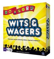 WITS & WAGERS THE MOST AWARD WINNING PARTY GAME IN HISTORY! PARTY AGE 10+ PLAYERS 4-20 A PARTY GAME BY DOMINIC CRAPUCHETTES