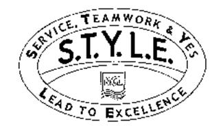 S.T.Y.L.E. NCL SERVICE, TEAMWORK & YES LEAD TO EXCELLENCE