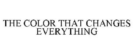 THE COLOR THAT CHANGES EVERYTHING