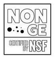NON GE CERTIFIED BY NSF