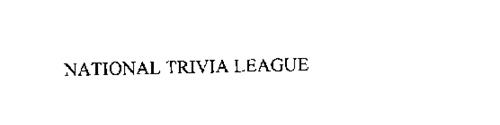 NATIONAL TRIVIA LEAGUE