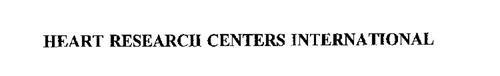 HEART RESEARCH CENTERS INTERNATIONAL