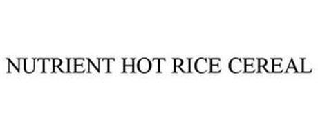 NUTRIENT HOT RICE CEREAL