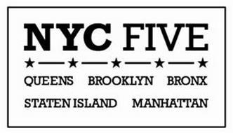 NYC FIVE QUEENS BROOKLYN BRONX STATEN ISLAND MANHATTAN