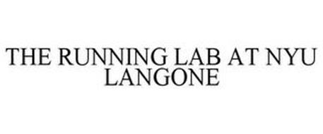 THE RUNNING LAB AT NYU LANGONE Trademark of NYU Langone
