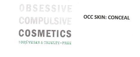 OBSESSIVE COMPULSIVE COSMETICS 100% VEGAN & CRUELTY-FREE, OCC SKIN: CONCEAL