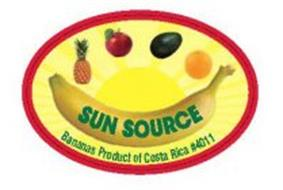 SUN SOURCE BANANAS PRODUCT OF COSTA RICA #4011