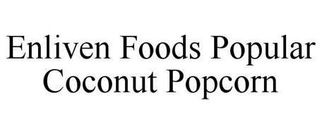 ENLIVEN FOODS POPULAR COCONUT POPCORN.