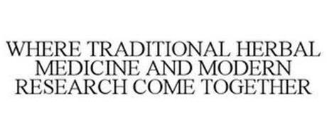 WHERE TRADITIONAL HERBAL MEDICINE AND MODERN RESEARCH COME TOGETHER