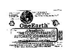 "ONE EARTH CLEANEARTH ""THE CONCENTRATED AUTOMATIC DISHWASHER POWER"""