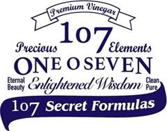 PREMIUM VINEGAR PRECIOUS 107 ELEMENTS ONE O SEVEN ETERNAL BEAUTY ENLIGHTENED WISDOM CLEAN PURE 107 SECRET FORMULAS