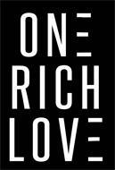 ONE RICH LOVE