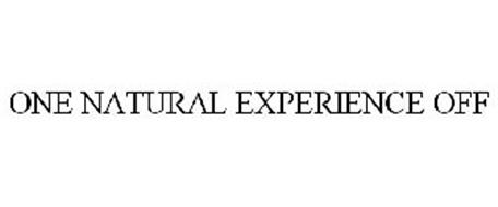 ONE NATURAL EXPERIENCE OFF