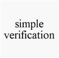 SIMPLE VERIFICATION