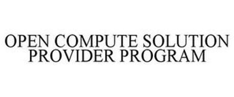 OPEN COMPUTE SOLUTION PROVIDER PROGRAM