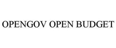 OPENGOV OPEN BUDGET