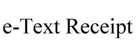 E-TEXT RECEIPT