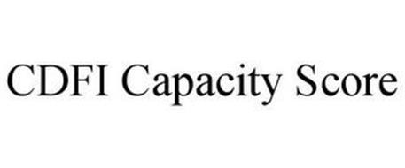 CDFI CAPACITY SCORE