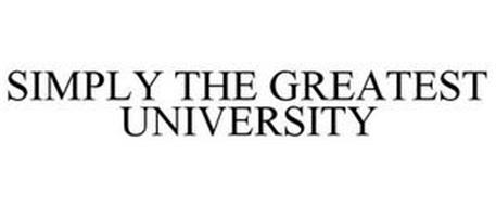 SIMPLY THE GREATEST UNIVERSITY