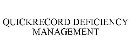 QUICKRECORD DEFICIENCY MANAGEMENT