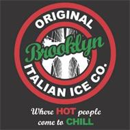 ORIGINAL BROOKLYN ITALIAN ICE CO. WHEREHOT PEOPLE COME TO CHILL