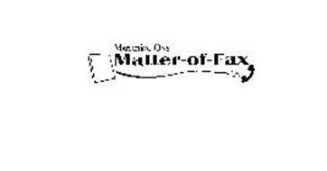 MARKETING ONE MATTER-OF-FAX