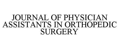 JOURNAL OF PHYSICIAN ASSISTANTS IN ORTHOPEDIC SURGERY