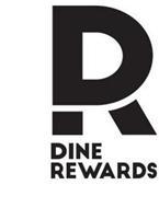 UPPERCASE D, UPPERCASE R, DINE REWARDS