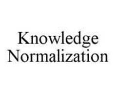 KNOWLEDGE NORMALIZATION