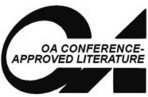 OA OA CONFERENCE-APPROVED LITERATURE
