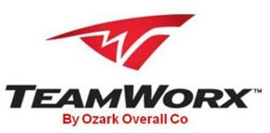 TW TEAMWORX BY OZARK OVERALL CO Trademark of OZARK OVERALL ...