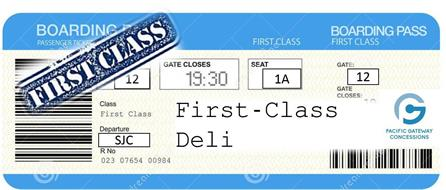 FIRST-CLASS BOARDING PASSENGER TICKETS BOARDING PASS