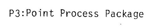 P3: POINT PROCESS PACKAGE