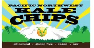 PACIFIC NORTHWEST KALE CHIPS ALL NATURAL GLUTEN FREE VEGAN RAW