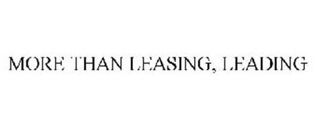 MORE THAN LEASING, LEADING