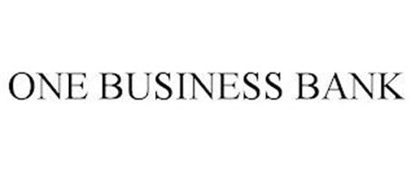 ONE BUSINESS BANK