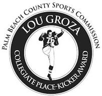 PALM BEACH COUNTY SPORTS COMMISSION LOUGROZA COLLEGIATE PLACE-KICKER AWARD
