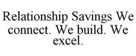 RELATIONSHIP SAVINGS WE CONNECT. WE BUILD. WE EXCEL.