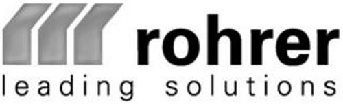 ROHRER LEADING SOLUTIONS