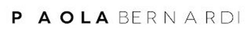 """THE NAME """"PAOLA BERNARDI"""" WITH """"PAOLA"""" APPEARING IN A THICKER FONT THAN """"BERNARDI"""""""