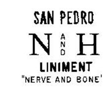 """SAN PEDRO N AND H LINIMENT """"NERVE AND BONE"""""""