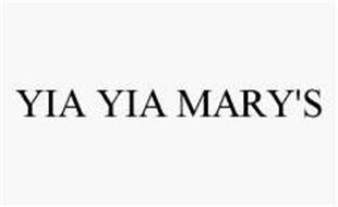 YIA YIA MARY'S