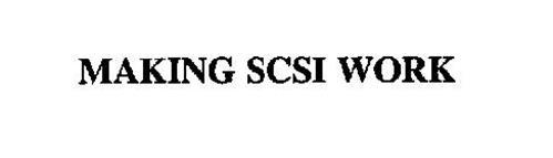MAKING SCSI WORK
