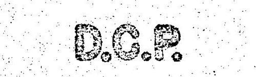 D.C.P.