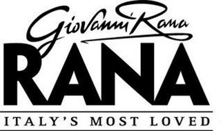GIOVANNI RANA RANA ITALY'S MOST LOVED