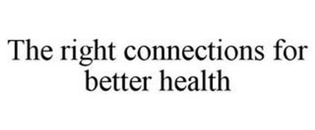 THE RIGHT CONNECTIONS FOR BETTER HEALTH