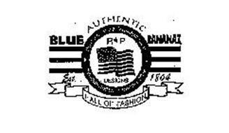 BLUE AUTHENTIC BANANAZ BLUE BANANAZ INTERNATIONAL R*P DESIGNS EST. 1804 HALL OF FASHION