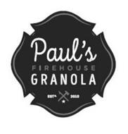 PAUL'S FIREHOUSE GRANOLA ESTD. 2010
