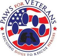PAWS FOR VETERANS RESCUING DOGS TO RESCUE HEROES