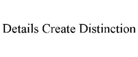 DETAILS CREATE DISTINCTION